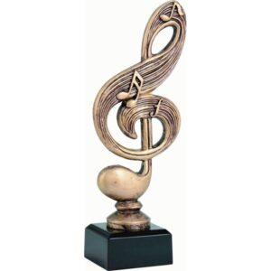 statuetka muzyka klucz wiolinowy nutki