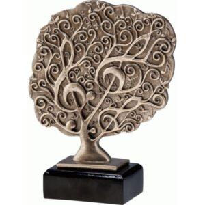 statuetka muzyka klucz wiolinowy sztuka trofea