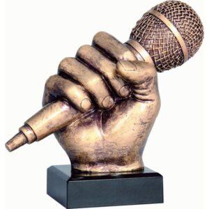 statuetka muzyka mikrofon nutki trofea