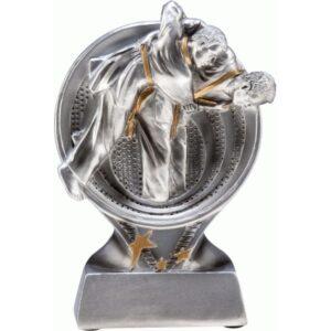 statuetki srebrna judo sporty walki zapasy
