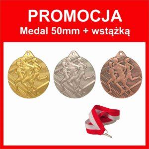 Medal 50mm biegi + wstazka tanietrofea.pl